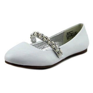Kenneth Cole Reaction Tap Sparkle Youth Round Toe Synthetic Ivory Flats