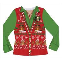 Faux Real F116450 Faux Real Shirts Ladies Ugly Xmas Vest - Small