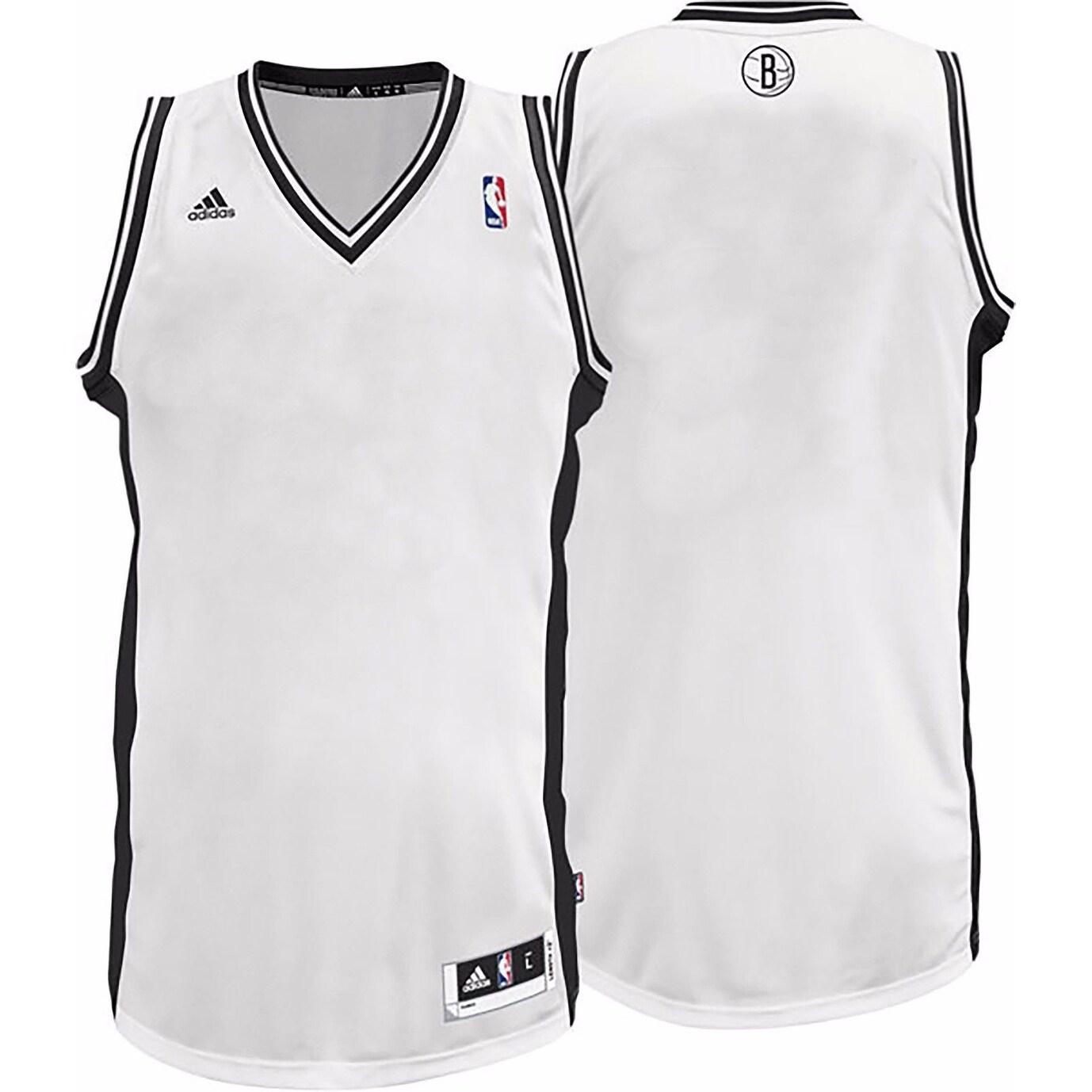 Brooklyn Nets NBA Men's Adidas White Blank Jersey