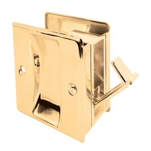Prime Line 161494 Pocket Door Combination Cabinet Pull, Polished Brass