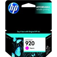 HP 920 Magenta Original Ink Cartridge (CH635AN)(Single Pack)