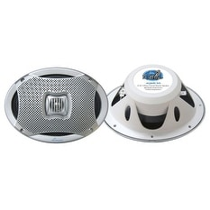 500 Watts 6''X9'' 2-Way Marine Speakers (Silver Color)