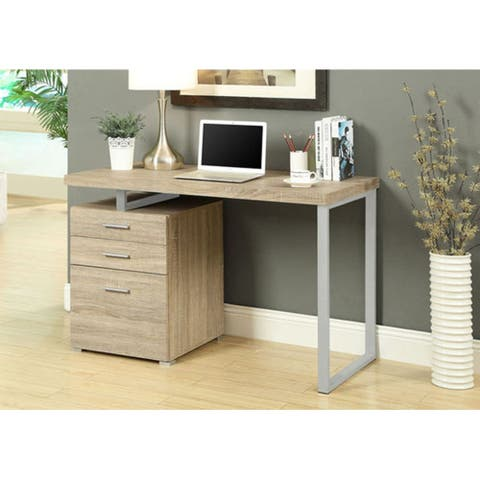 """Offex Natural Reclaimed-Look Left or Right Facing 48""""L Desk"""
