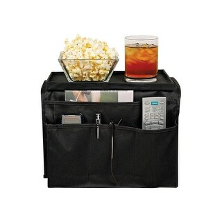 Trademark 6 Pocket Arm Rest Organizer Table Tray - Black