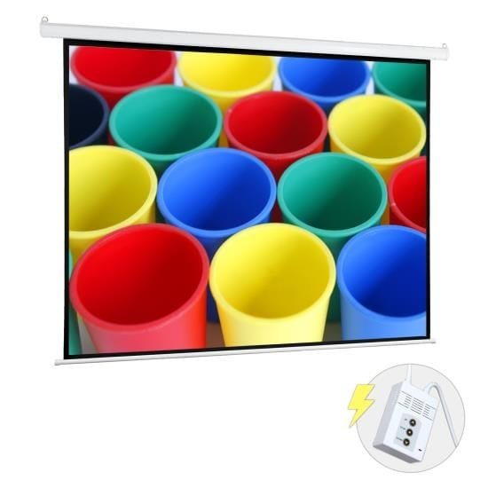 """72"""" Motorized Projector Screen, Electronic Automatic Projection Display, Includes Remote Control"""