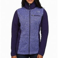 The North Face Purple Womens Size XS Full Zip Insulated Sweater