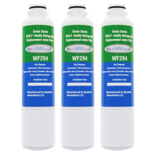 Replacement Water Filter For Samsung RF25HMEDBBC Refrigerator Water Filter by Aqua Fresh (3 Pack)