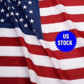 Costway 3'x5' FT Sewn Stripes Embroidered Stars Brass Grommets USA US U.S. American Flag - multi