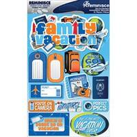 """Family Vacation - Signature Dimensional Stickers 4.5""""X6"""" Sheet"""
