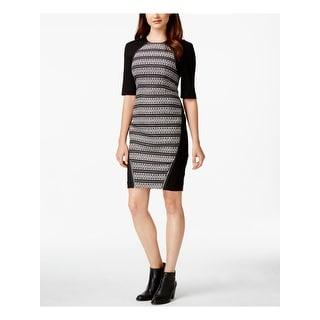 Link to RACHEL ROY Black Short Sleeve Above The Knee Sheath Dress  Size 10 Similar Items in Dresses