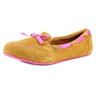 Skechers 33875 Women Round Toe Leather Brown Slipper