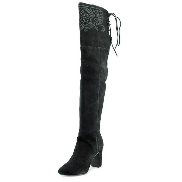 Nanette Lepore Berry Women Moc Toe Suede Black Boot