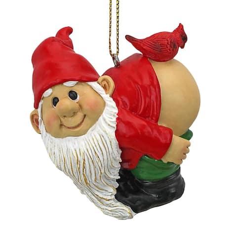 Design Toscano Loonie Moonie Gnome Holiday Ornament