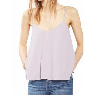 TopShop NEW Purple Women's Size 8 V-Neck Swing Double-Strap Cami Top