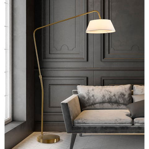 HomeGlam Route 81-inch Metal Arch Floor Lamp