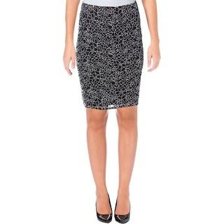 Aqua Womens Pencil Skirt Lace Soutache