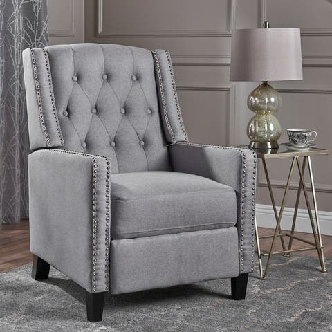 Izidro Tufted Fabric Recliner by Christopher Knight Home
