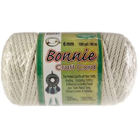 Bonnie Macrame Craft Cord 6Mmx100yd-Lamb's Wool
