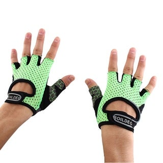 BOILDEG Authorized Sports Fitness Breathable Palm Support Gloves Green M Pair