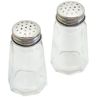 Good Cook 24084 Glass Salt & Pepper Shakers, Set Of 2