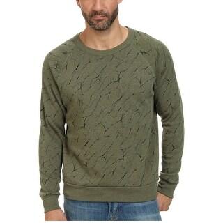 Alternative Earth Fleece Crewneck Sweatshirt Eco True Camo Green Medium M