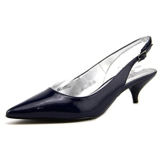 Tahari Faye Women Pointed Toe Patent Leather Blue Slingback Heel