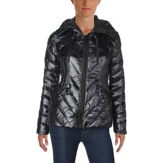 Vince Camuto Womens Puffer Coat Down Fleece Hood - XS