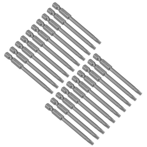 "20pcs 75mm Long 1/4"" Hex Shank T20 Torx Screwdriver Bit S2 High Alloy Steel - H1/4inch*75*T20 20Pcs"
