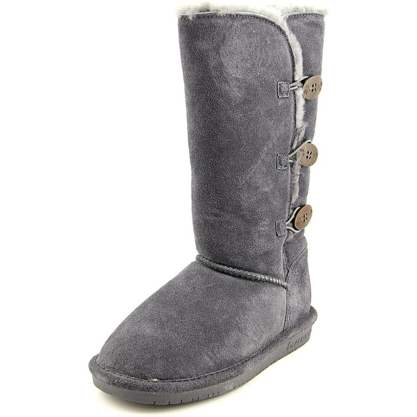Bearpaw Lauren Women Round Toe Suede Gray Winter Boot