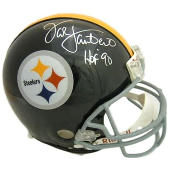 38663bb3e Shop Pittsburgh Steelers Jack Lambert Autographed Replica Helmet with -  Free Shipping Today - Overstock - 26182272