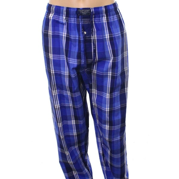 0ebbd00ee Shop Polo Ralph Lauren Blue Mens Size Large L Plaid Pajama Lounge Pants -  Free Shipping On Orders Over  45 - Overstock - 22024322