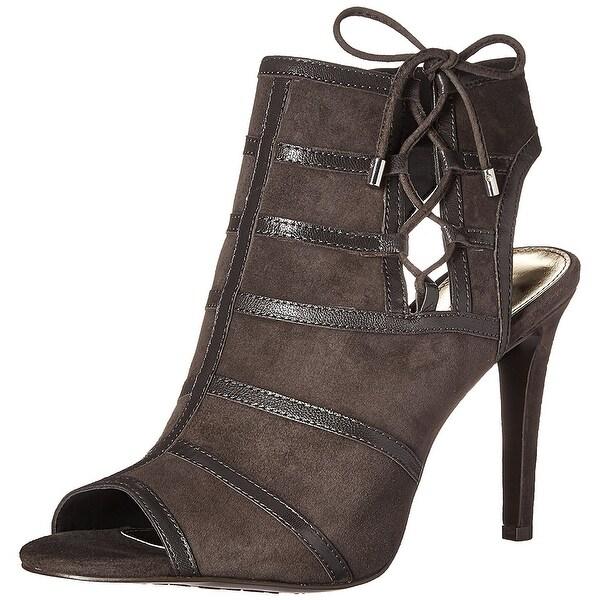 LAUREN by Ralph Lauren Womens Mimi Leather Peep Toe Classic Pumps