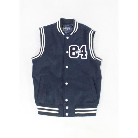 American Rag Mens Jacket Blue Size Small S Sleeveless Varsity Vest