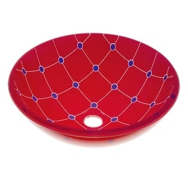 Glass Vessel Bathroom Sink Double Layer Spider Web