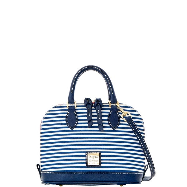 Dooney & Bourke DB Stripe Bitsy Bag (Introduced by Dooney & Bourke at $178 in Jan 2016) - Navy