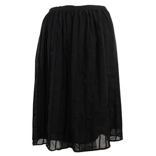 Calvin Klein Women's Pleated Flare Skirt - Black
