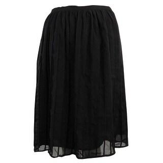 Calvin Klein Women's Pleated Flare Skirt - Black (5 options available)