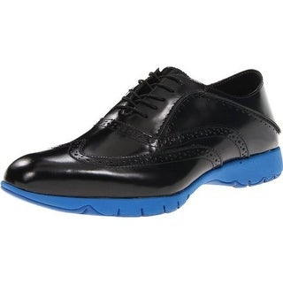 Hush Puppies Mens Five-Brogue Leather Wing Tip Oxfords
