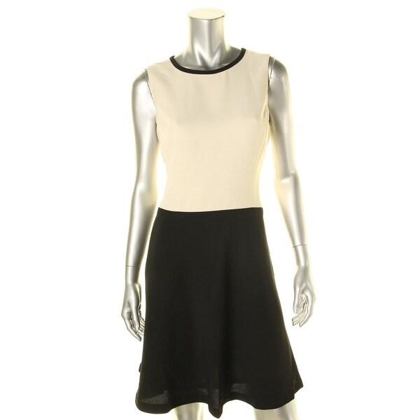 Lauren Ralph Lauren Womens Petites Wear to Work Dress Colorblock Sleeveless