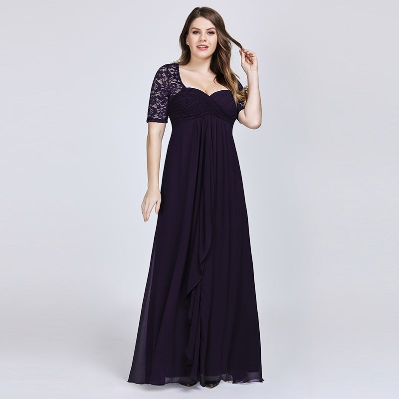 Ever-Pretty Women\'s Plus Size Lace Mother of the Bride Wedding Party Maxi  Dress 07625