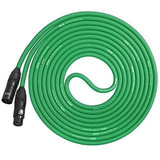LyxPro Balanced XLR Cable 10 ft Premium Series Professional Microphone Cable, Powered Speakers and Other Pro Devices Cable (Option: Green)