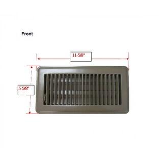 "Mintcraft FR01-4X10B Floor Register, 4"" x 10"", Brown"