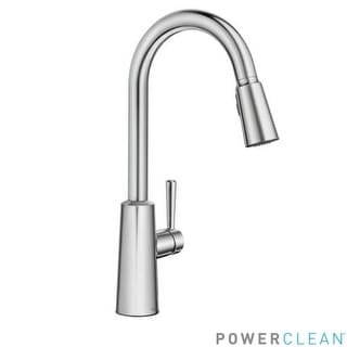 Moen 7402 Riley Pull Down Spray High Arc Kitchen Faucet With Reflex And  Power
