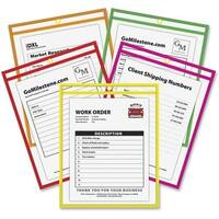 C-Line Neon Colored Stitched Shop Ticket Holders