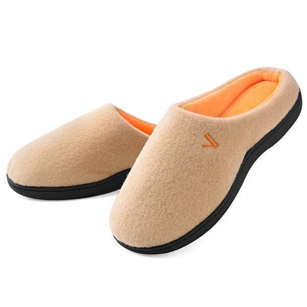 VONMAY Women's Slippers Slip On House Shoes Two Tone Memory Foam Indoor  Outdoor - Overstock - 25737200 - Small - 5/6 - Tan