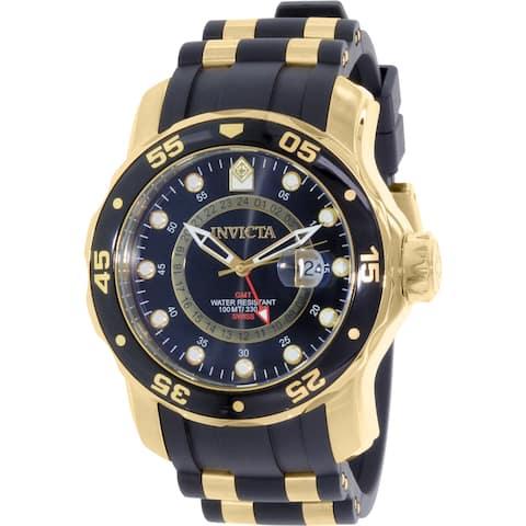 Invicta Men's Pro Diver Black Rubber Swiss Quartz Fashion Watch