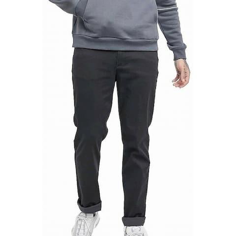 Calvin Klein Mens Chino Pants Fragment Gray 38x32 Slim Fit Taper Stretch