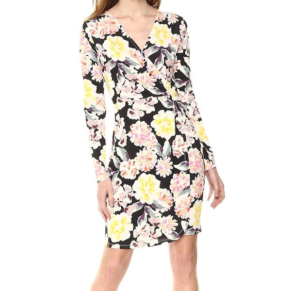 4f1f32202fda6 Shop French Connection Yellow Black Womens Size 4 Floral Sheath ...