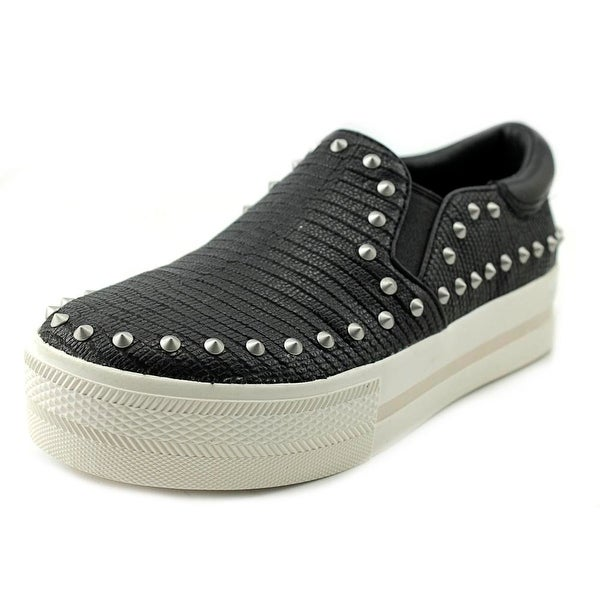 Ash Jared Women Round Toe Leather Black Sneakers