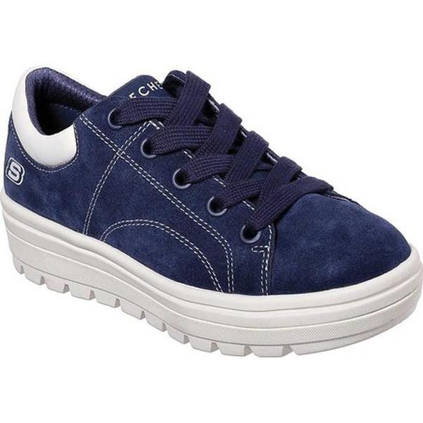 1318c52a62f Shop Skechers Women s Street Cleat Back Again Sneaker Navy - Free ...